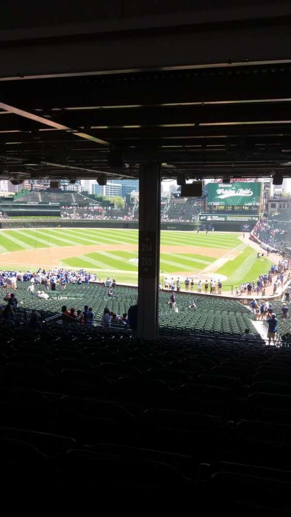 Wrigley Field, section: 215, row: 20, seat: 8