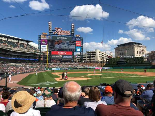 Comerica Park, section: 125, row: 18, seat: 3
