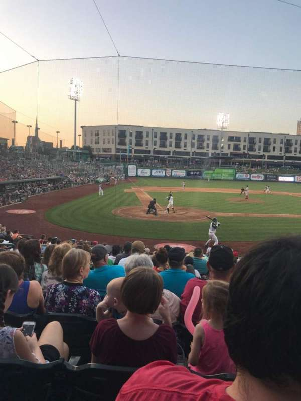 Parkview Field, section: 106, row: S, seat: 9