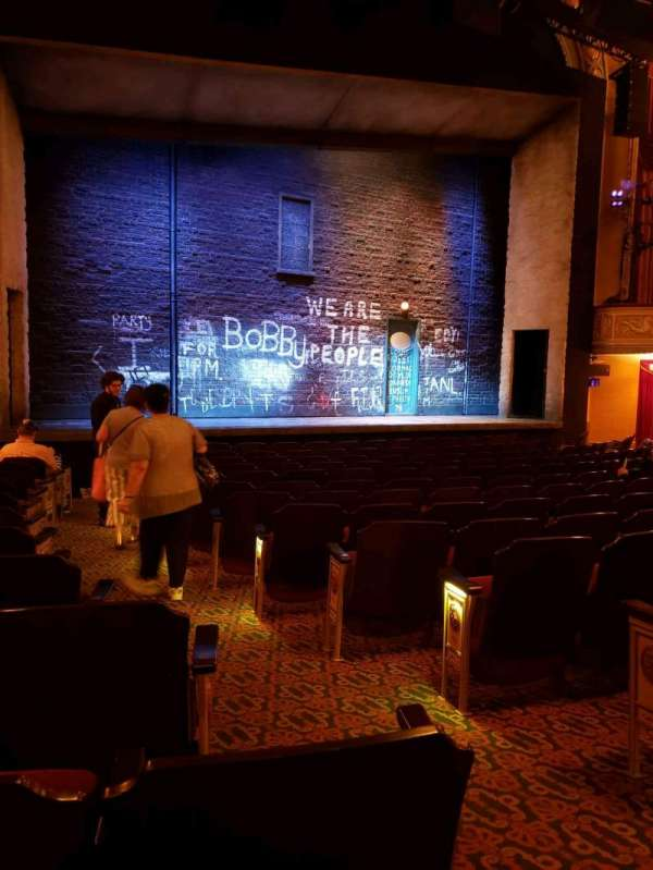 Bernard B. Jacobs Theatre, section: orchestra l, row: m, seat: 5