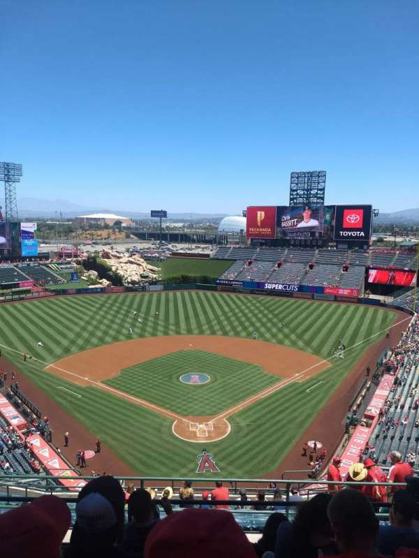 Angel Stadium, section: V520, row: E, seat: 6