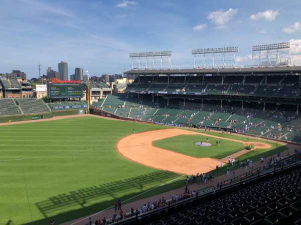 Wrigley Field , section: 406L, row: 1, seat: 3