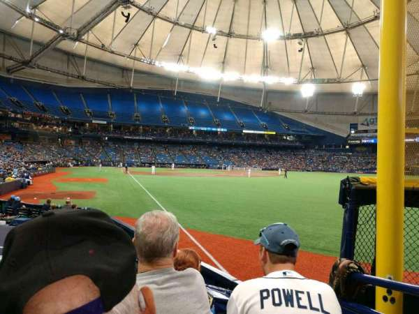 Tropicana Field, section: 140, row: P, seat: 2