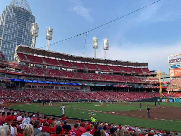 Great American Ball Park, section: 132, row: P, seat: 3