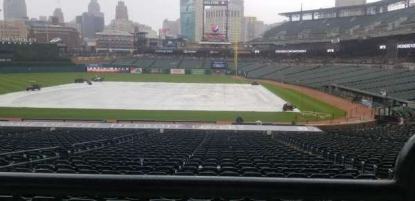 Comerica Park, section: 132A, row: A, seat: 1