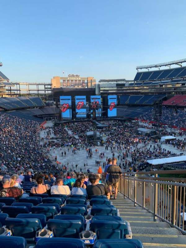 Gillette Stadium, section: 201, row: 26, seat: 1