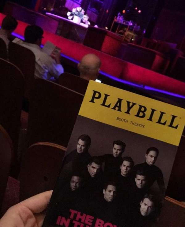 Booth Theatre, section: Orchestra R, row: C, seat: 6