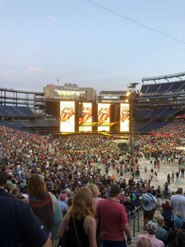 Gillette Stadium, section: 103, row: 32, seat: 20