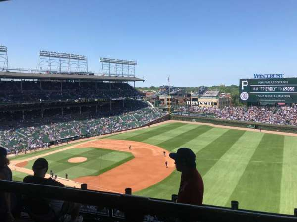 Wrigley Field, section: 428R, row: 1, seat: 12