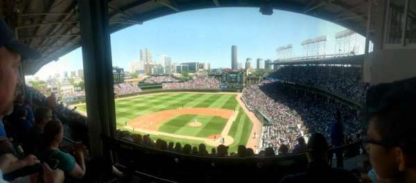 Wrigley Field, section: 415L, row: 2, seat: 5