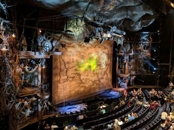 Gershwin Theatre, section: Front Mezzanine L, row: BB, seat: 1