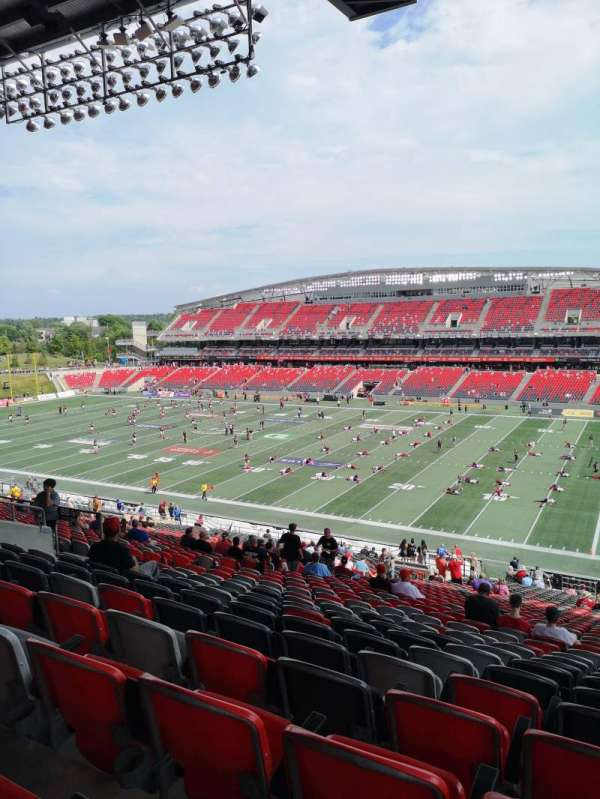 TD Place Stadium, section: BB, row: 9, seat: 22