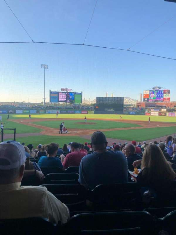 Louisville Slugger Field, section: 114, row: V, seat: 9