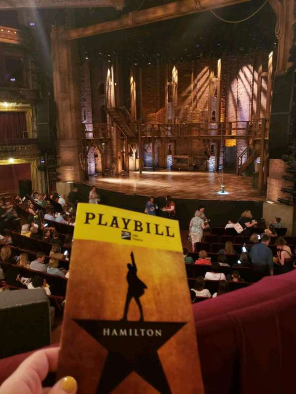 CIBC Theatre, section: Dress Circle Right, row: A, seat: 4
