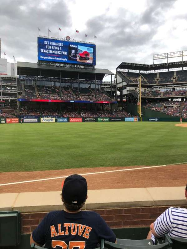 Globe Life Park in Arlington, section: 14, row: 3, seat: 1