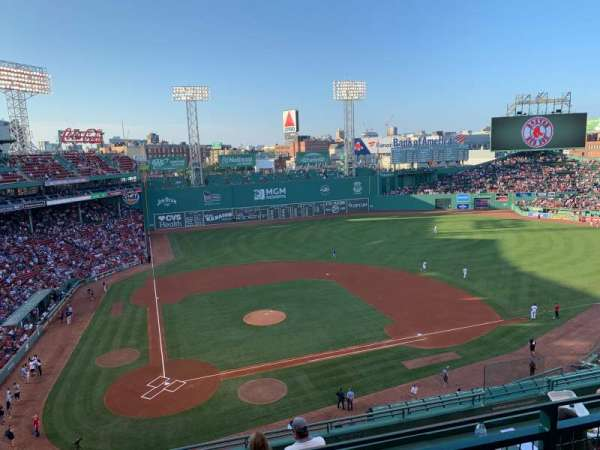Fenway Park, section: Pavilion Box 1, row: B, seat: 7