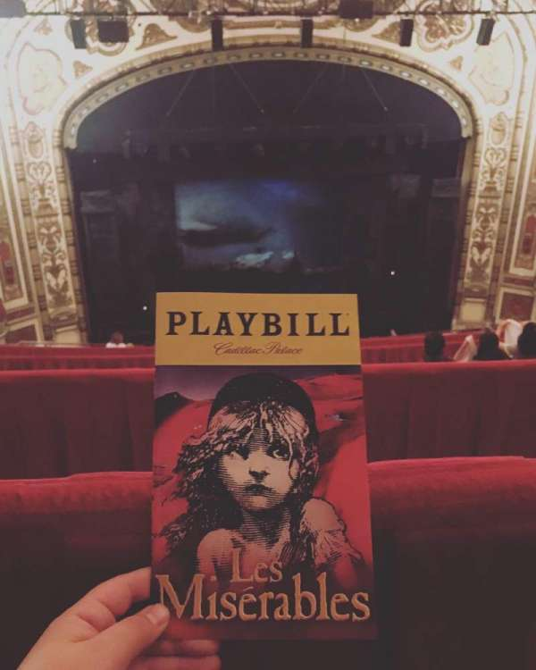 Cadillac Palace Theater, section: Balcony LC, row: L, seat: 306
