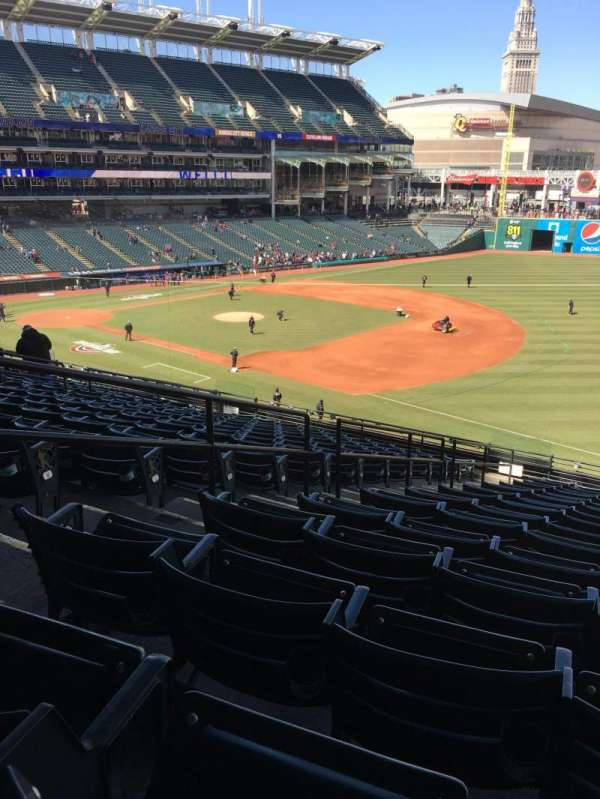 Progressive Field, section: 332, row: Q, seat: 7