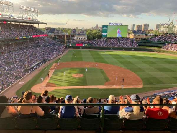 Wrigley Field, section: 423R, row: 1, seat: 5
