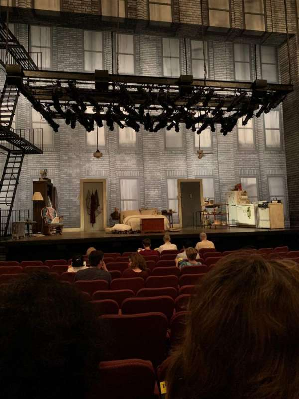 Broadhurst Theatre, section: Orchestra C, row: K, seat: 104