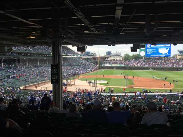 Wrigley Field, section: 223, row: 18, seat: 12