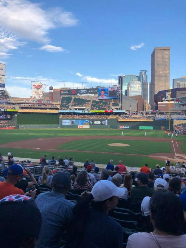 Target Field, section: 118, row: 11, seat: 8
