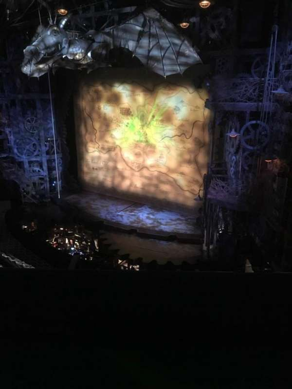 Apollo Victoria Theatre, section: Circle, row: B, seat: 5