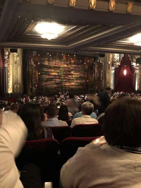 Hollywood Pantages Theatre, section: Orchestra L, row: UU, seat: 9