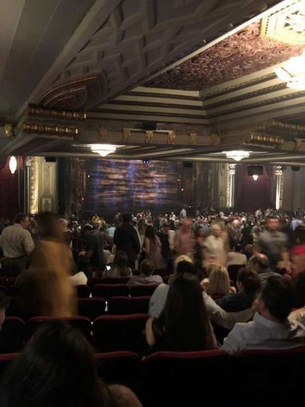 Hollywood Pantages Theatre, section: Orchestra L, row: ZZ, seat: 13