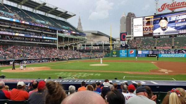 Progressive Field, section: 144, row: P, seat: 3
