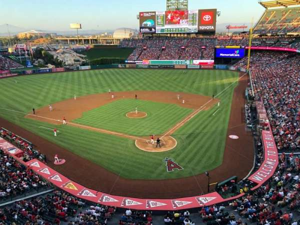 Angel Stadium, section: 417, row: A, seat: 7