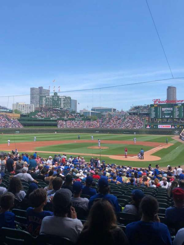 Wrigley Field, section: 215, row: 1, seat: 6
