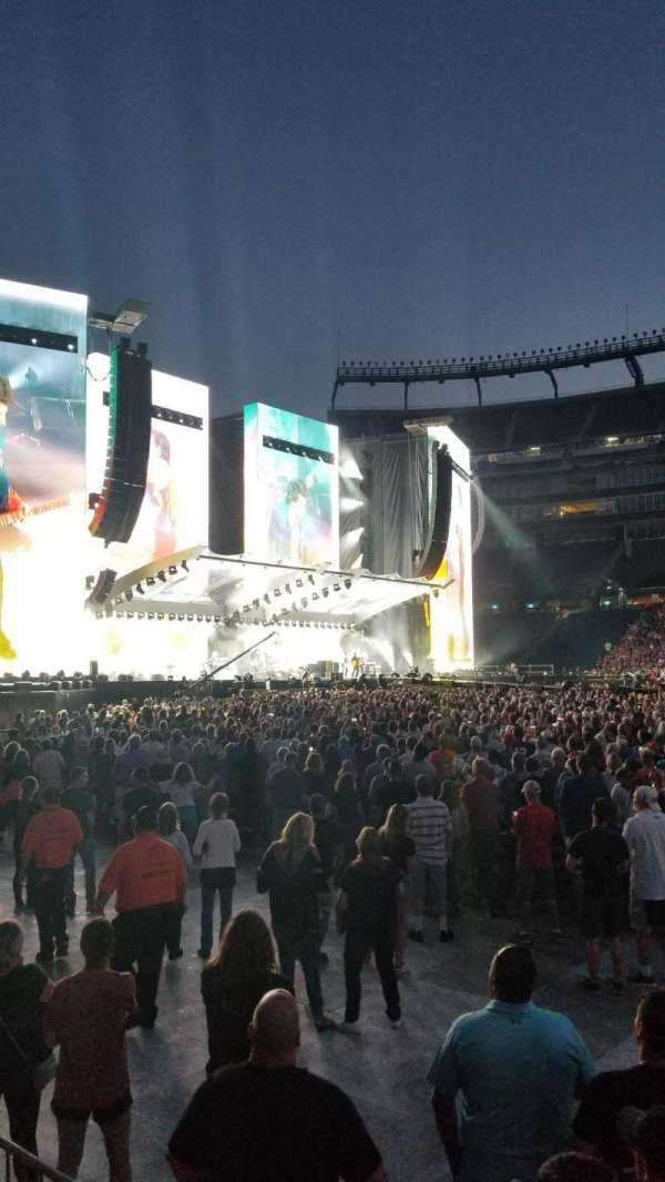 Gillette Stadium, section: 110, row: 1, seat: 5