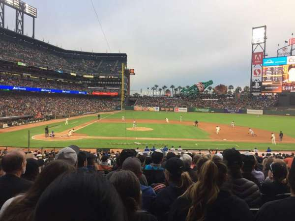 Oracle Park, section: 109, row: 31, seat: 10