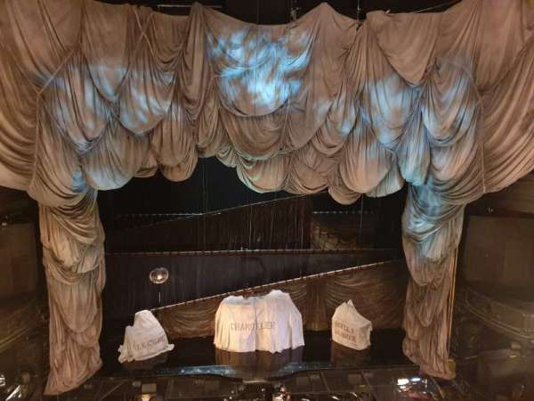 Her majesty's theatre, section: Grand Circle, row: A, seat: 20