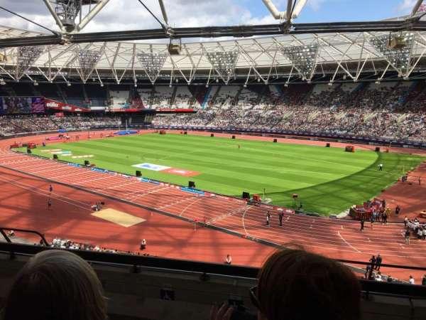 London Stadium, section: 214, row: 50, seat: 253