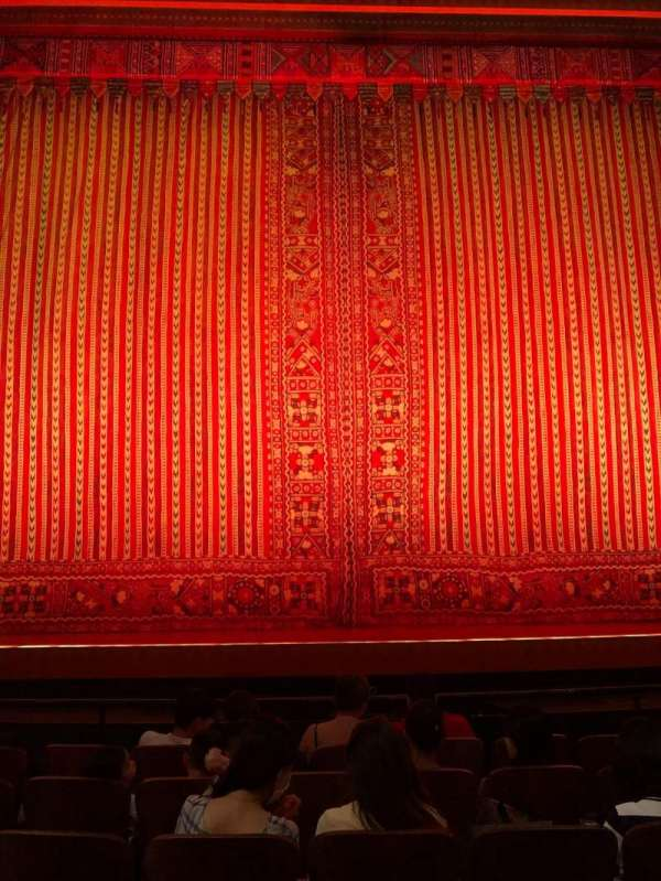 New Amsterdam Theatre, section: Orchestra C, row: F, seat: 109