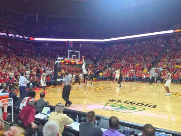 Hilton Coliseum, section: 111, row: 4, seat: 1