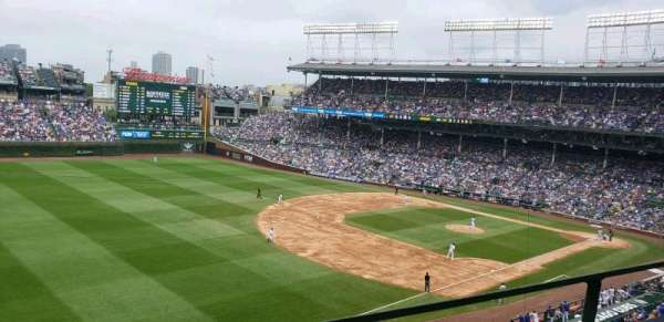 Wrigley Field, section: 306L, row: 1, seat: 4