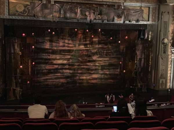 Hollywood Pantages Theatre, section: Mezzanine LC, row: G, seat: 306