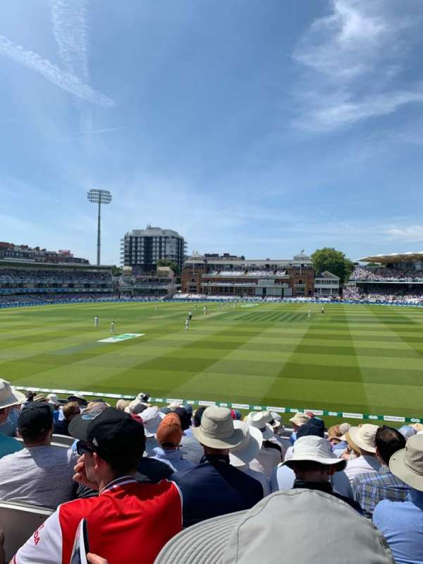 Lord's Cricket Ground, section: HH, row: K, seat: 123