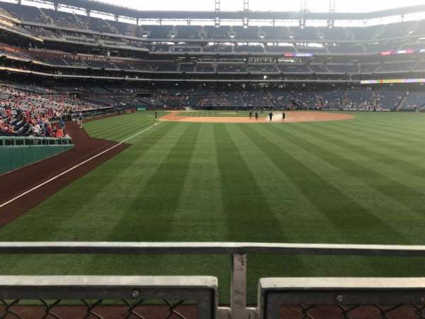 Citizens Bank Park, section: 106, row: 1, seat: 7