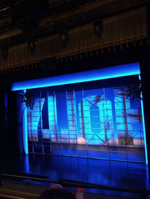 Nederlander Theatre, section: Mezzanine R, row: C, seat: 6