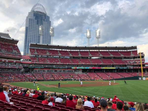 Great American Ball Park, section: 135, row: Q, seat: 1