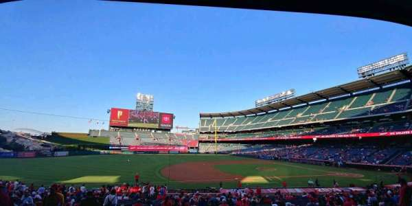 Angel Stadium, section: T210, row: B, seat: 1