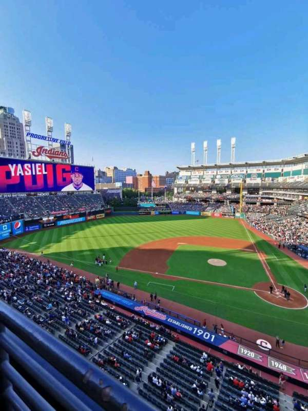 Progressive Field, section: 459, row: A, seat: 13
