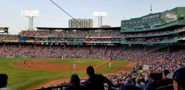 FENWAY PARK, section: Grandstand 32, row: 3, seat: 4