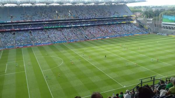 Croke Park, section: Upper Cusack 710, row: Q, seat: 12