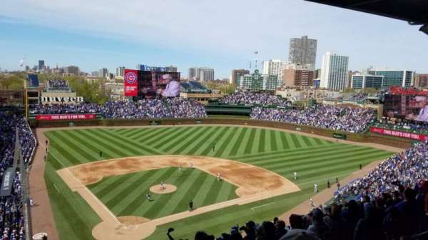 Wrigley Field, section: 420R, row: 2, seat: 7