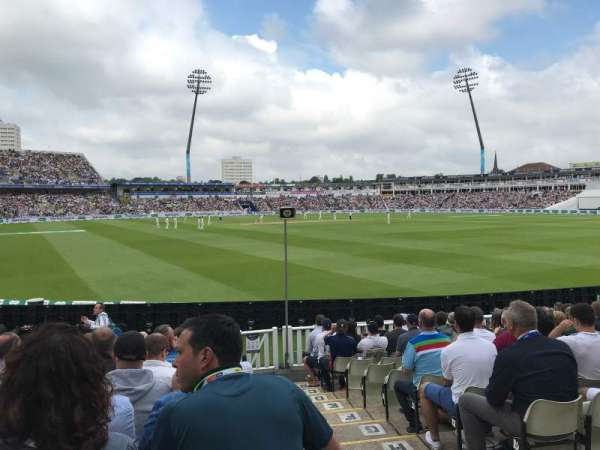 Edgbaston Cricket Ground, section: Eric Hollies Stand, row: N, seat: 1